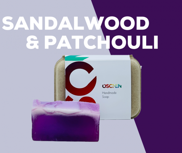 Sandalwood and Patchouli Handmade Soap Bar